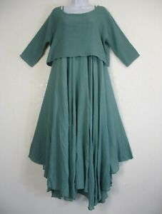 LagenLook  100% Cotton Half Lined Summer Dress & Top 17 Colours Plus size  16-20