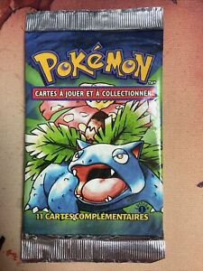 1st Edtion Base Set - French Pokemon - Factory Sealed Booster Pack - CCNCOMICS