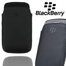 Genuino Funda de bolsillo BlackBerry para Curve 9350 9360 9370 Bolsa De Cuero Negro