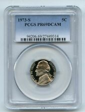 1973 S 5C Jefferson Nickel Proof PCGS PR69DCAM