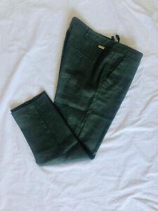 Sheego culotte donna pantaloni pants Estate Pantaloni Caprihose Nero Taglia 40