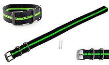 Luminox Watch Band Strap 22/23mm Black/Green Stripe 3050/3080/3150/3180