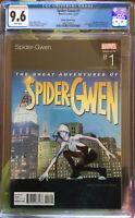 Spider-Gwen 1 Hip Hop Ratio Variant 1 CGC 9.6 NM+ Ramos RARE! Slick Rick Homage
