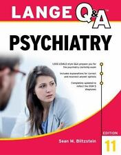 Lange Q&a Psychiatry, 11th Edition by Sean M. Blitzstein (2016, Paperback)