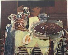 George Braque, Le Moulin A Cafe, Vintage Offset  Lithograph 1945, Unsigned