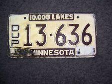 Minnesota license plate  1962 blank--DUP----
