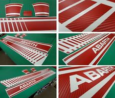 Fiat Punto Abarth Red Carbon bubble free Side Stripes Graphics Decals Stickers