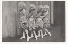 Apollo Theatre London The Four Folly Girls in By The Way Vintage Postcard 831b