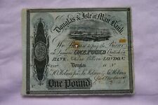 More details for douglas & isle of man bank one £1 pound banknote 1844(?) nice signed example