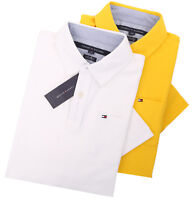 Tommy Hilfiger Men's Short Sleeve Solid Custom Fit Polo Shirt - $0 Free Ship