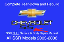 Chevrolet SSR 2003 - 2006 Service Repair Workshop Manual Maintenance GM DVD