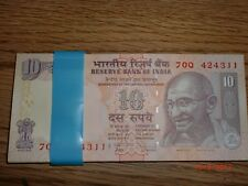 INDIA PAPER MONEY- HALF PACK - 50XRS.10/- NEW 'MG' NOTES - SUBBARAO-2009 - D-79