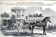 Horse Racing 1856 TROTTERS SILVER HEELS TROTTER MELON DRIVER SINGLETON Art Print