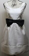 Just Taylor Women Dress Prom Gown Sz 6 Sexy Cream Black Bow Party Sleeveless