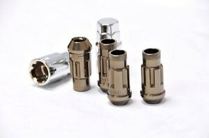 Muteki SR48 Open End Locking Lug Nuts in Titanium 12x1.50 32902T