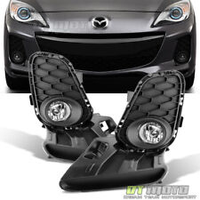 2012-2013 Mazda 3 Mazda3 4/5Dr Bumper Fog Lights+Switch Replacement Left+right (Fits: Mazda)