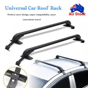 Universal Car Top Roof Racks Holder Carrier Pair Cross Bar Aluminium Alloy Lock