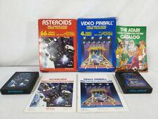 Atari 2600 Black Label Game Lot - Asteroids & Video Pinball - COMPLETE In Box