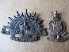 Australian Rising Sun And Ordnance Hat Badges