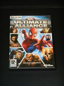 Marvel Ultimate Alliance English PC Game DVD (2006) Hungarian cover
