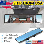 300mm Car Interior Wide Angle Mirror Anti Glare Rear View Blind Spot Safety