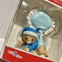 Baby Boy's 1st Christmas Ornament Blue Design Diaper Christmas Tree