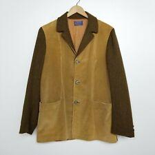 VTG Pendleton Mens Tan Brown Wool Corduroy Button Jacket Large