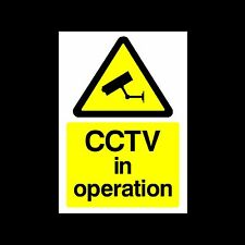 CCTV IN OPERATION SIGN, STICKER & METAL *ALL SIZES* A6, A5, A4, A3