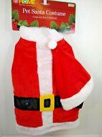Pet Santa Suit Costume Plush  Dog Size Large 16 inch New