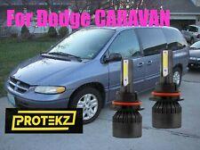 LED CARAVAN 1996-2007 Headlight Kit 9007 HB5 6000K White Bulbs High&Low Beam