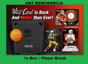 Justin Fields Chicago Bears 2021 WILD CARD Matte Black 1X BOX BREAK #1