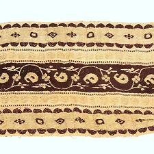3m (10 foot) LONG Old Antique India SARI Saree TRIM Embroidered Textile 652r5