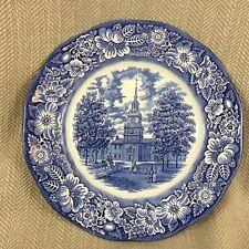 Liberty Blue transferencia Ware Vintage Placa Salón de la independencia
