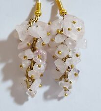 Natural Rose Quartz Fashion Earings 45.00 Cts 15 30 Mm