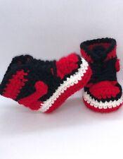 Crochet Baby Sneaker J Basketball Air Red Black White Jordan 1 Bred