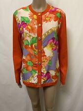 Celine Cardigan Womens ~ Size 40 ~ Great Cond Floral Print Knit Jumper Vintage
