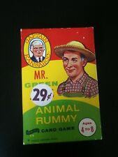 Mr Green Jeans Animal Rummy Card Game Children's Vintage TOY Captain Kangaroo