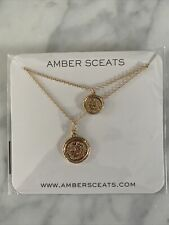 Amber Sceats Double Coin Necklace  NEW in Package Fab, Fit, Fun
