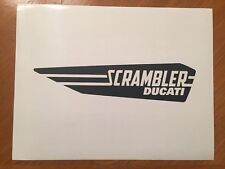 Tin Sign Vintage Scrambler Ducati Motorcycle 1
