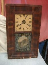 "1870 Large Working 25-3/4""x15-3/8"" OG Shelf Mantel Clock NEW HAVEN CLOCK COMPANY"