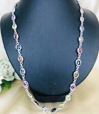 Naga Necklace Eye Crystal Thai Lucky Amulet Gems Sliver 925 Pendant Buddha