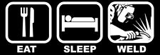 3x9 inch Eat Sleep Weld Bumper Sticker - decal funny welder welding rod humor i