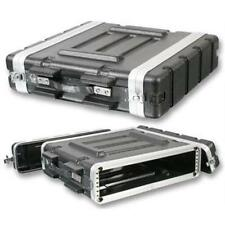 "NEW PA DJ 2U Equipment Rack Mount Flight Storage Case.Concert.19"" Stage.2space"