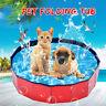 Foldable Pet Bath Swimming Tub Bathing Folding Pool For Dogs Cats Kids 80*20CM