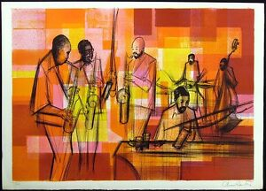 "Sacha Chimkevitch ""Jazz Session"" Signed Numbered Art Lithograph MAKE AN OFFER!"