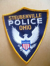Patches: STEUBENVILLE OHIO USA POLICE PATCH (NEW* apx. 12x10 cm)