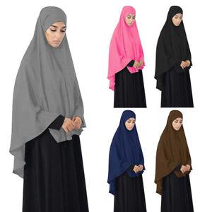 Khimar Hijab Scarf Muslim Women Overhead Amira Prayer Abaya Niqab Burqa Islamic