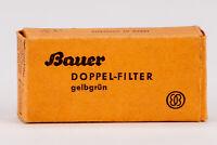 Bauer Gelbgrün Doppelfilter 2x Aufsteckfilter Farbfilter Filter für Bauer 88B