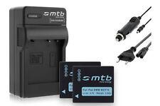 2x Batterie + Chargeur DMW-BCF10/BCF10E pour Panasonic Lumix DMC-FX40, FS30,FS33
