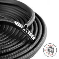 Black 10Ft U Shape Rubber Seal Car Door Edge Guard Molding Trim Protectors Strip
